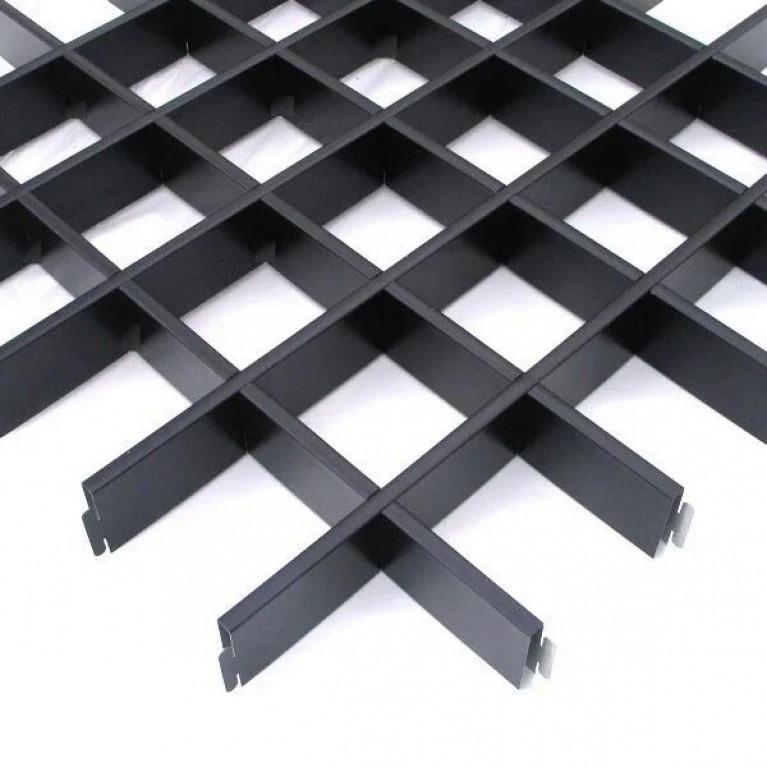 Грильято GL15 75х75 ( выс.47/шир.15) черный