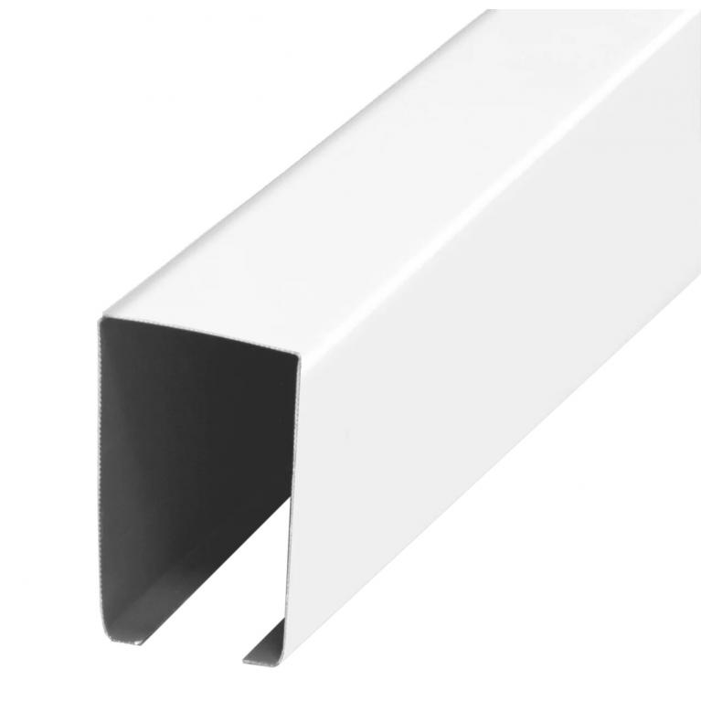 Рейка кубообразная белая матовая 30х50х3000мм