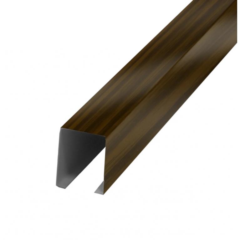 Рейка кубообразная дуб темный 30х38х4000мм