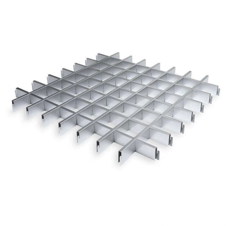 Грильято классический металлик серебристый Эконом 100х100х40